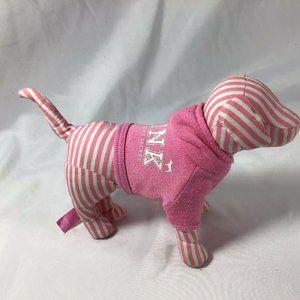 "PINK Victorias Secret Hoodie 6"" Plush Dog Striped"